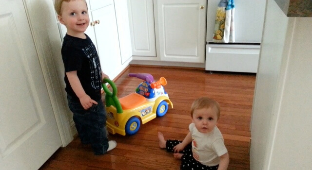 Beckett and Isabel Riding Beckett's Car