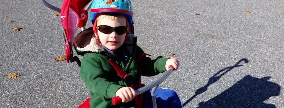 Beckett Powers His Bike