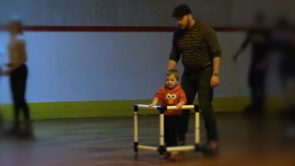 Watch Beckett learn to roller skate at CN Skate Palace in Aston, PA