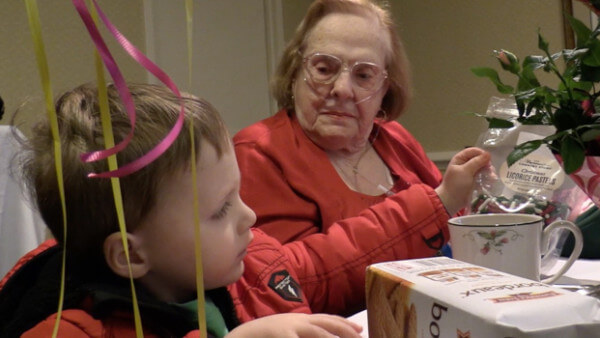 Beckett celebrates Great Grandmom's 92nd Birthday. Watch to see the fun he has!