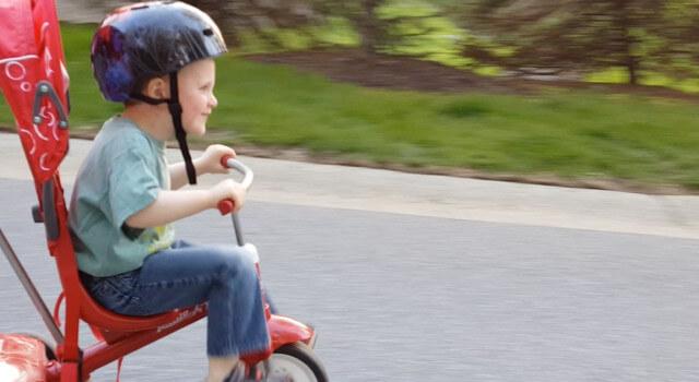 Beckett Rides The Neighborhood