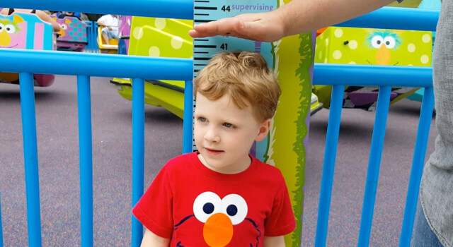 Beckett Takes A Ride At Sesame Place