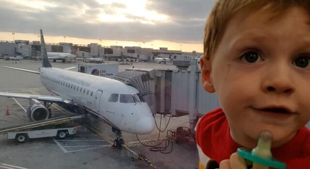 Beckett's First Plane Ride