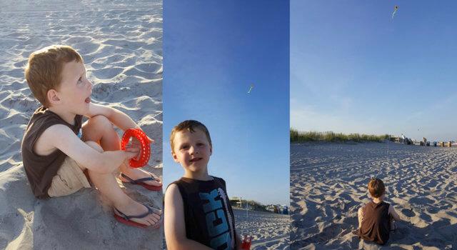 Beckett Flies His First Kite
