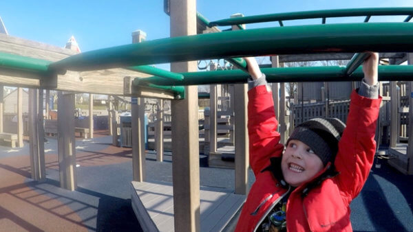 Beckett Conquers Freedom Playground
